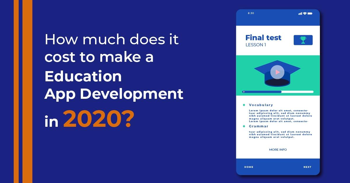 cost for education app development