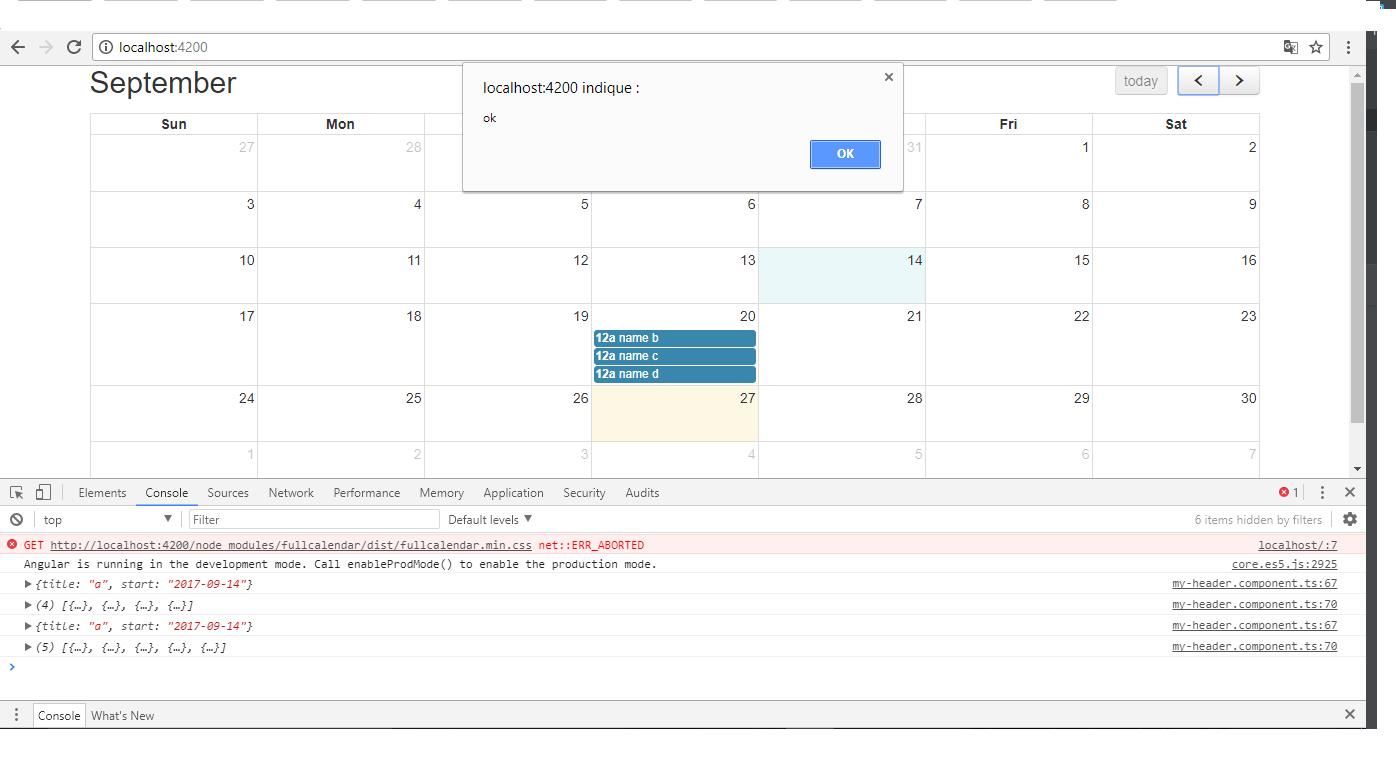 Angular - Calendar Issues