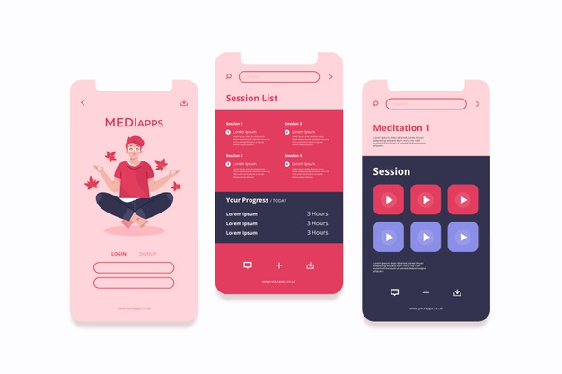 meditation-app-interface-concept
