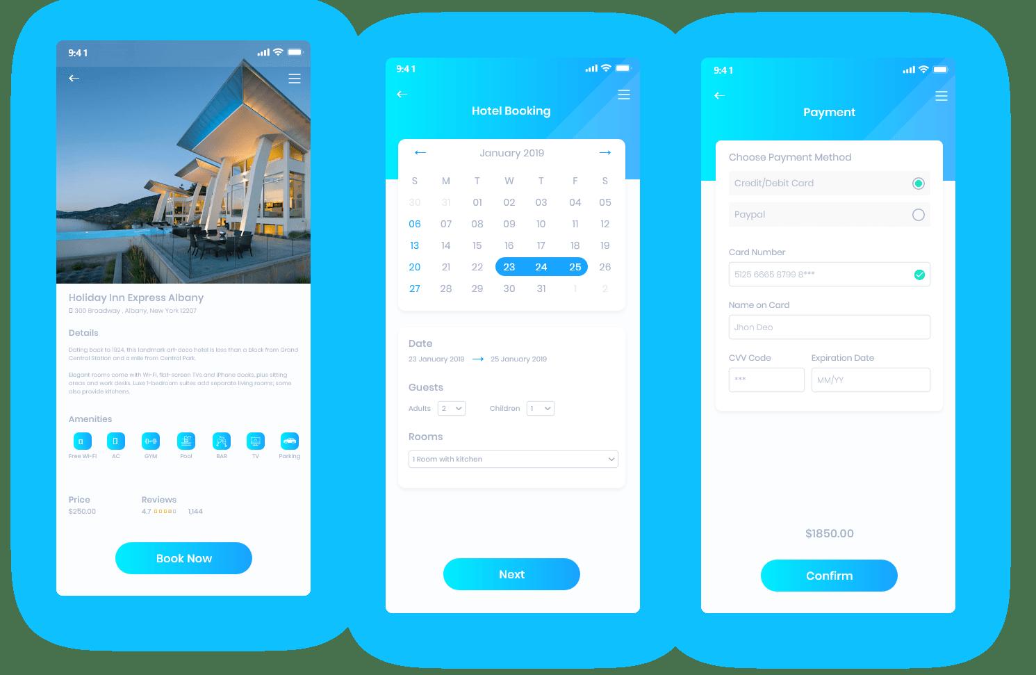 Hotel Booking App Development Process