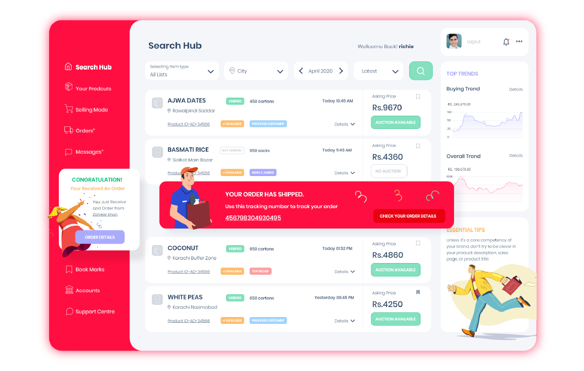 Multi-vendor Marketplace Software - Vendor App