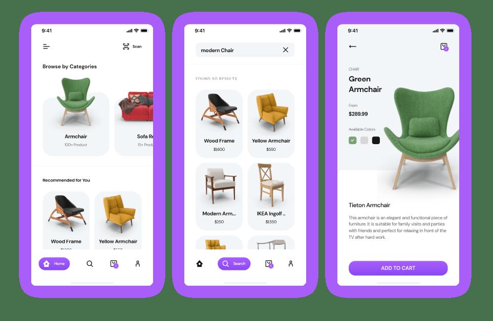 Multi-vendor marketplace app for furniture store - Customer App