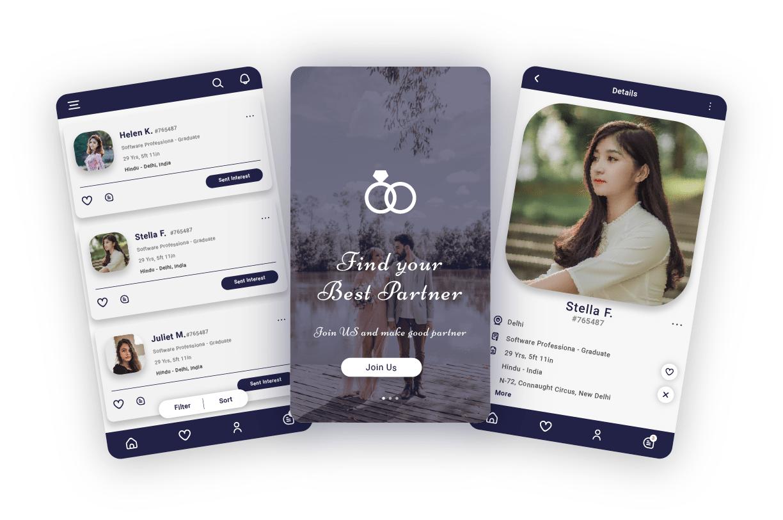 Matrimony-mobile-app-screens